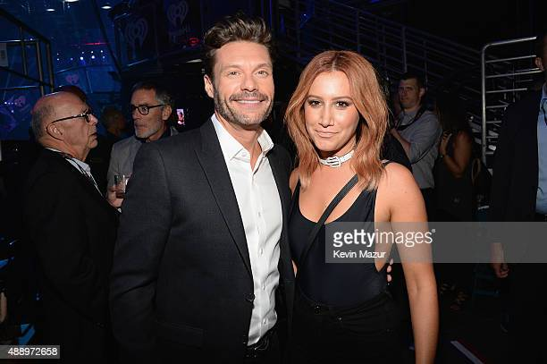 Ryan Seacrest and Ashley Tisdale attend the 2015 iHeartRadio Music Festival at MGM Grand Garden Arena on September 18, 2015 in Las Vegas, Nevada.