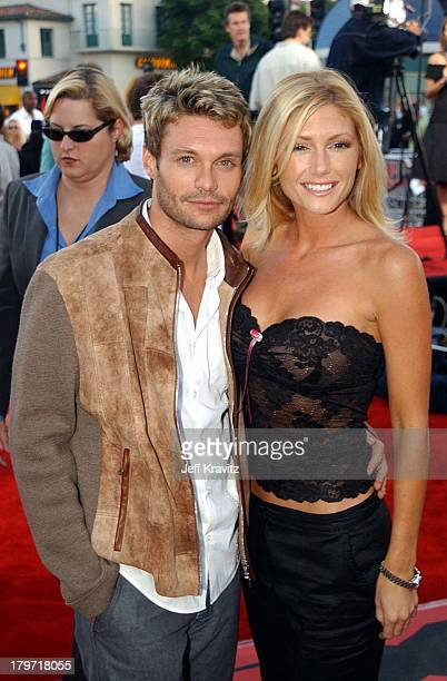 Ryan Seacrest and Brande Roderick during XXX Los Angeles Premiere in Westwood California United States