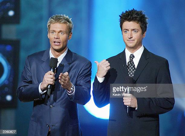 Ryan Seacrest and Brian Dunkleman at FOXTV's 'American Idol' finale at the Kodak Theatre in Hollywood Ca Wednesday Sept 4 2002 Photo by Kevin...