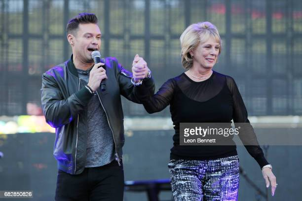 Ryan Seacrest and Constance Marie Zullinger performs on stage at 1027 KIIS FM's 2017 Wango Tango at StubHub Center on May 13 2017 in Carson California