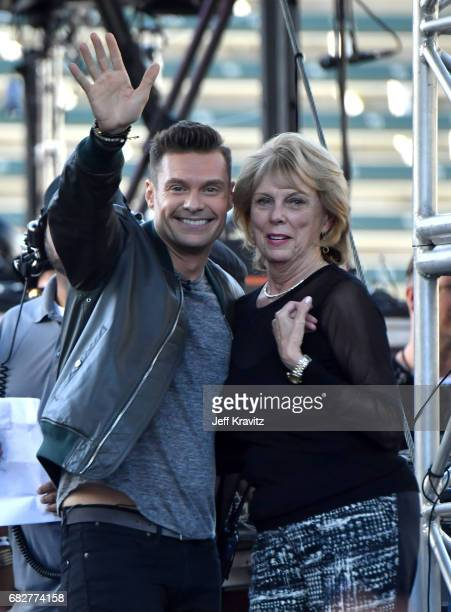 Ryan Seacrest and Constance Marie Zullinger speak onstage during 1027 KIIS FM's 2017 Wango Tango at StubHub Center on May 13 2017 in Carson California