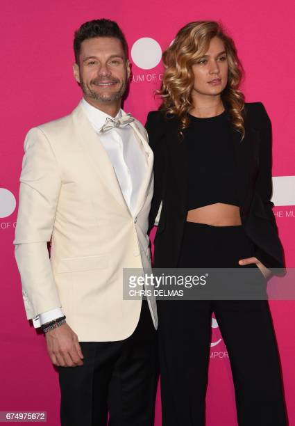 Ryan Seacrest and girlfriend Shayna Taylor attend the MOCA annual gala at the Geffen Contemporary at MOCA in Los Angeles on April 29 2017 / AFP PHOTO...