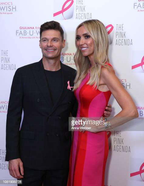 Ryan Seacrest and Giuliana Rancic attend The Pink Agenda's Annual Gala at Tribeca Rooftop on October 11 2018 in New York City