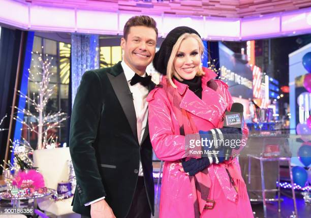 Ryan Seacrest and Jenny McCarthy attend the Dick Clark's New Year's Rockin' Eve with Ryan Seacrest 2018 on December 31 2017 in New York City