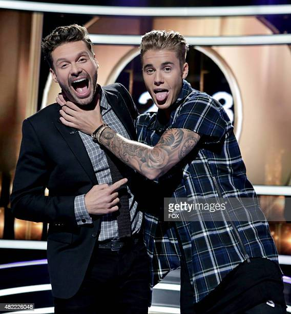 Ryan Seacrest and Justin Bieber on KNOCK KNOCK LIVE airing Tuesday July 28 on FOX
