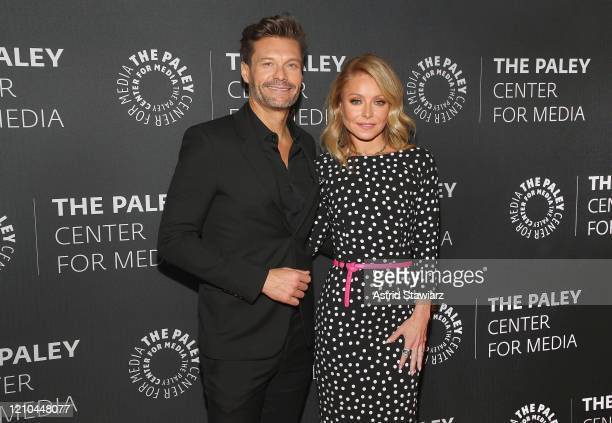 Ryan Seacrest and Kelly Ripa attend The Paley Center For Media Presents An Evening with Live with Kelly and Ryan at Paley Center For Media on March...