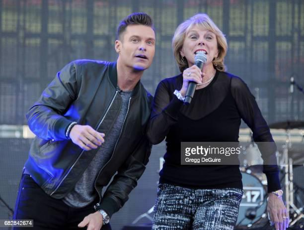 Ryan Seacrest and mom Constance Marie Zullinger at 1027 KIIS FM's 2017 Wango Tango at StubHub Center on May 13 2017 in Carson California