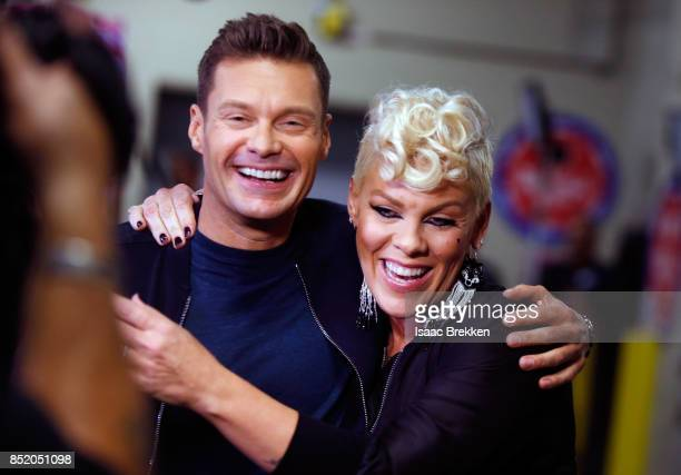 Ryan Seacrest and Pink attend the 2017 iHeartRadio Music Festival at T-Mobile Arena on September 22, 2017 in Las Vegas, Nevada.