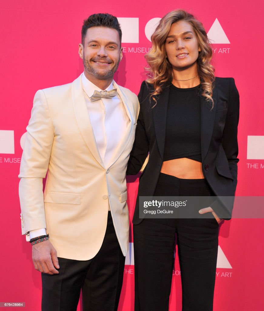 Ryan Seacrest and Shayna Taylor arrive at the MOCA Gala 2017 at The Geffen Contemporary at MOCA on April 29, 2017 in Los Angeles, California.