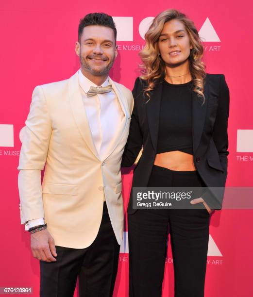 Ryan Seacrest and Shayna Taylor arrive at the MOCA Gala 2017 at The Geffen Contemporary at MOCA on April 29 2017 in Los Angeles California