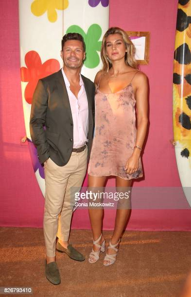 Ryan Seacrest and Shayna Taylor attend the Hamptons Paddle and Party for Pink to benefit the Breast Cancer Research Foundationon August 5 2017 at...
