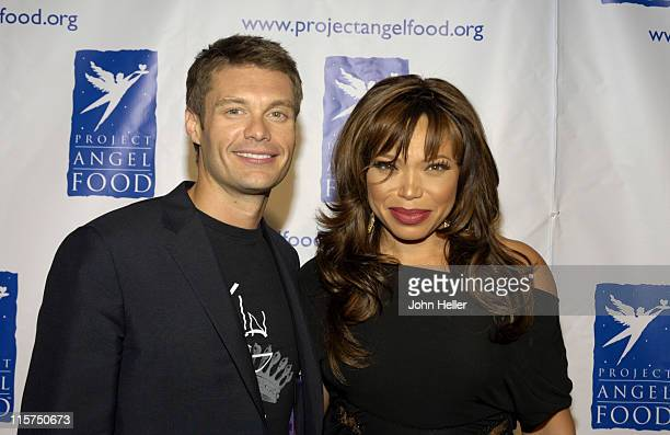 """Ryan Seacrest and Tisha Campbell- Martin during Ryan Seacrest and Tisha Campbell-Martin to Receive Divine Design """"Man and Woman of Style"""" Awards at..."""