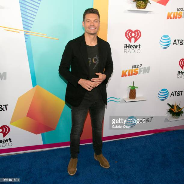 Ryan Seacrest arrives for iHeartRadio's KIIS FM Wango Tango By ATT at Banc of California Stadium on June 2 2018 in Los Angeles California
