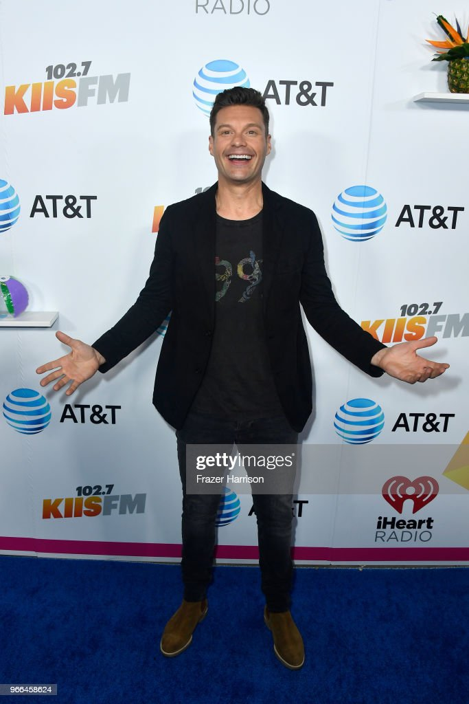 Ryan Seacrest attends iHeartRadio's KIIS FM Wango Tango by AT&T at Banc of California Stadium on June 2, 2018 in Los Angeles, California.