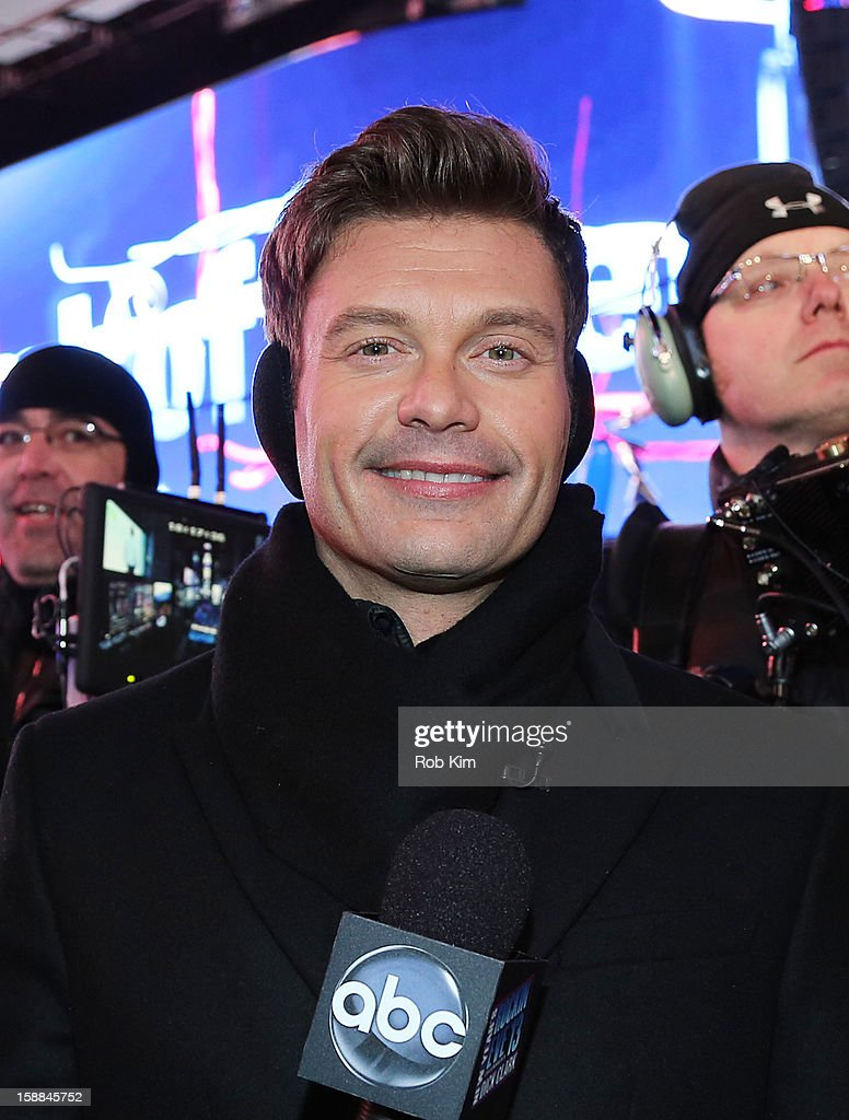 Ryan Seacrest attends New Year's Eve 2013 in Times Square on December 31, 2012 in New York City.
