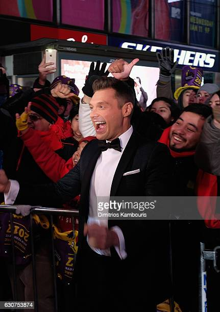 Ryan Seacrest attends New Year's Eve 2017 in Times Square on December 31 2016 in New York City