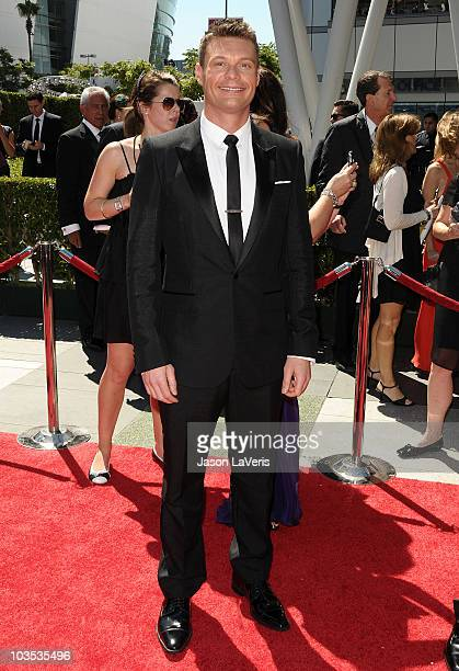 Ryan Seacrest attends the 2010 Creative Arts Emmy Awards at Nokia Plaza LA LIVE on August 21 2010 in Los Angeles California