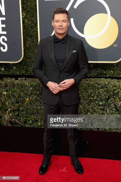 Ryan Seacrest attends The 75th Annual Golden Globe Awards at The Beverly Hilton Hotel on January 7 2018 in Beverly Hills California