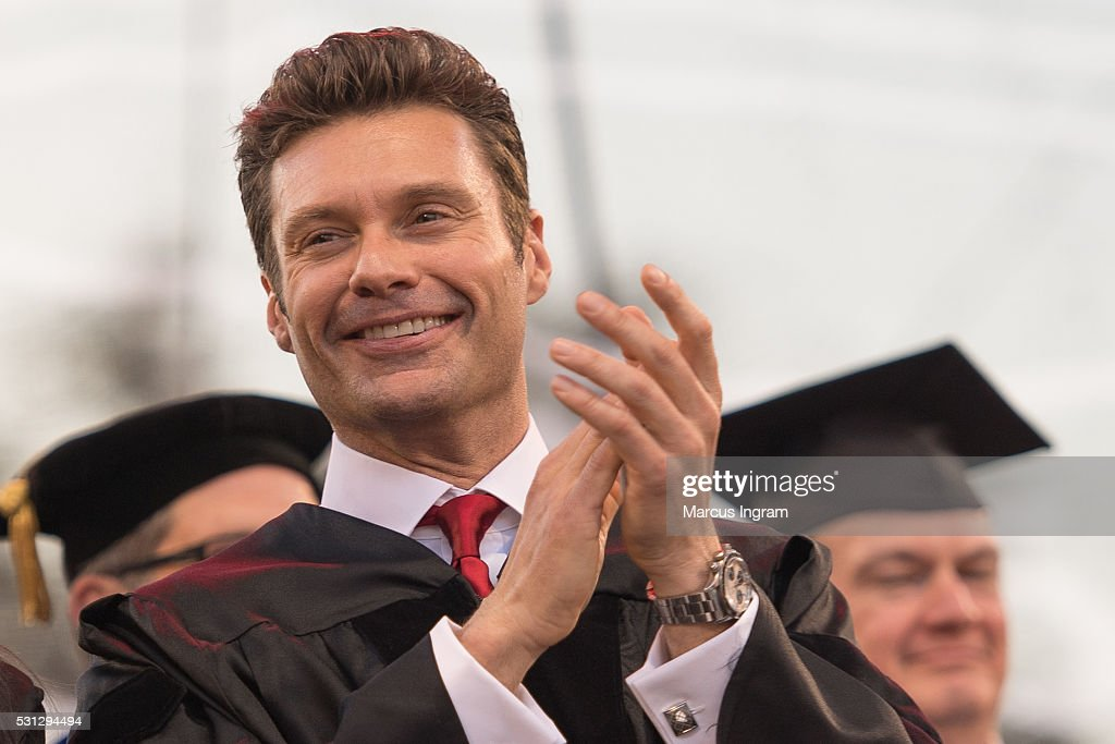 Ryan Seacrest attends University of Georgia commencement at Sanford Stadium on May 13, 2016 in Athens, Georgia.