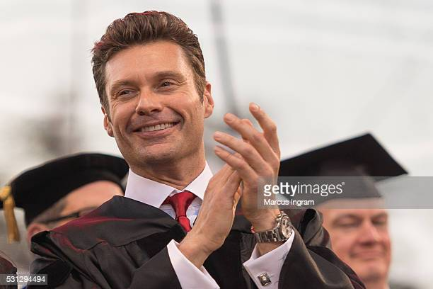 Ryan Seacrest attends University of Georgia commencement at Sanford Stadium on May 13 2016 in Athens Georgia