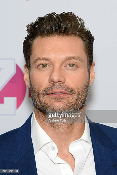 Ryan Seacrest attends Z100's iHeartRadio Jingle Ball 2015 arrivals at Madison Square Garden on December 11 2015 in New York City