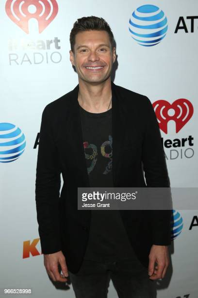 Ryan Seacrest backstage at the 2018 iHeartRadio Wango Tango by ATT at Banc of California Stadium on June 2 2018 in Los Angeles California
