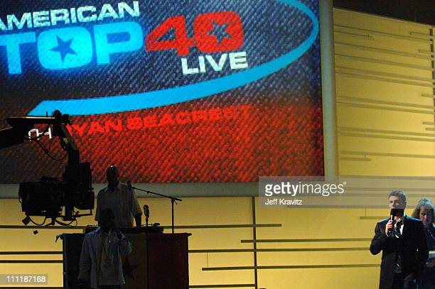 Ryan Seacrest during 'America's Top 40 Live' with Ryan Seacrest at CBS Studios Stage 46 in Los Angeles California United States