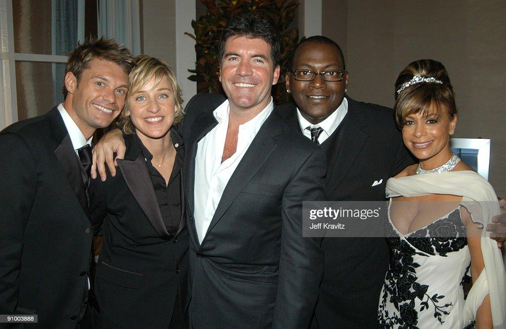 Ryan Seacrest, Ellen DeGeneres, Simon Cowell, Randy Jackson, and Paula Abdul