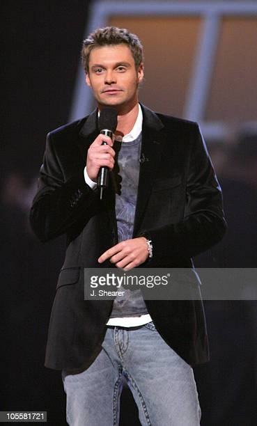 Ryan Seacrest host during 2004 Billboard Music Awards Show at MGM Grand Garden in Las Vegas Nevada United States