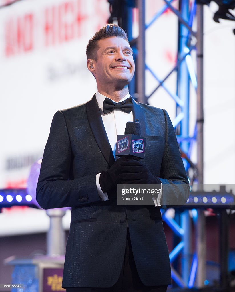 Ryan Seacrest hosts 'Dick Clark's New Year's Rockin' Eve' during New Year's Eve 2017 in Times Square on December 31, 2016 in New York City.