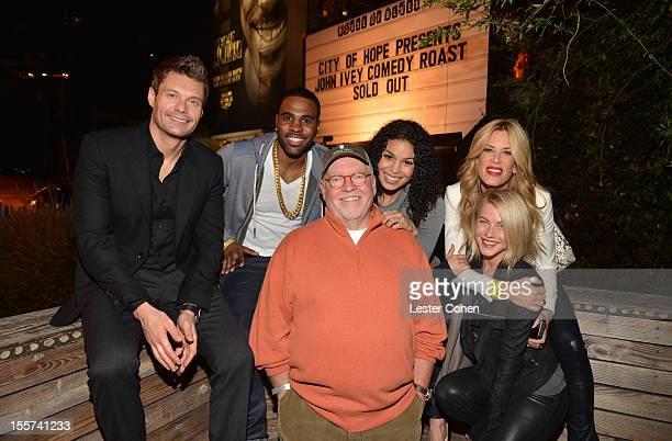 Ryan Seacrest, Jason Derulo, Senior VP of programming at Clear Channel John Ivey, Jordin Sparks, Ellen K, and Julianne Hough attend City of Hope's...