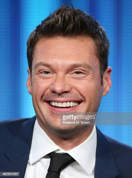 Ryan Seacrest of the television show 'American Idol' speaks during the FOX portion of the 2014 Television Critics Association Press Tour at the...