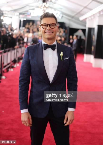 Ryan Seacrest on the red carpet at THE 60TH ANNUAL GRAMMY AWARDS broadcast live on both coasts from New York City's Madison Square Garden on Sunday...