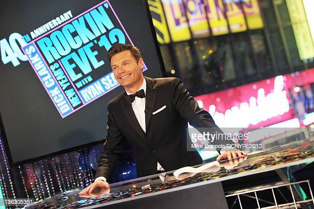 Ryan Seacrest performs onstage during Dick Clark's New Year's Rockin' Eve with Ryan Seacrest 2012 at Times Square on December 31, 2011 in New York...
