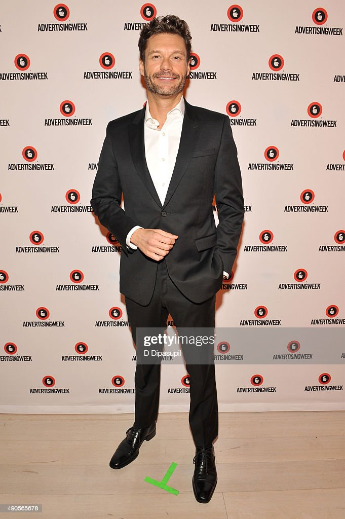 Ryan Seacrest poses at the Sound Strategy: Why Millennials and Gen Z Are Listening More panel presented by iHeartMedia during Advertising Week 2015 AWXII at the Times Center Stage on September 29, 2015 in New York City.