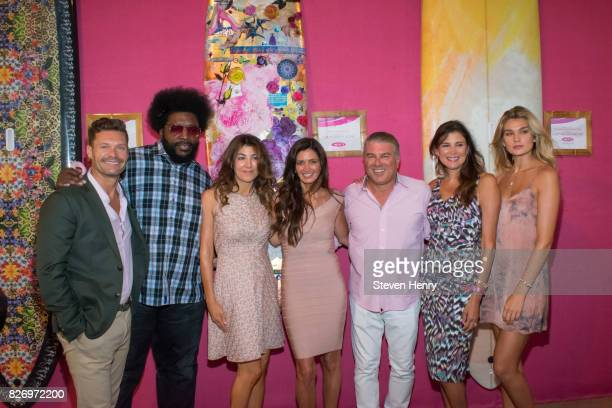 Ryan Seacrest Questlove Christina Steinbrenner and Maria Baum attend the Sixth Annual Hamptons Paddle Party For Pink To Benefit Breast Cancer...