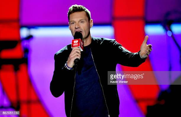 Ryan Seacrest speaks onstage during the 2017 iHeartRadio Music Festival at TMobile Arena on September 22 2017 in Las Vegas Nevada