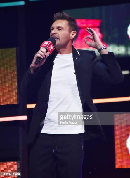 Ryan Seacrest speaks onstage during the 2018 iHeartRadio Music Festival at TMobile Arena on September 22 2018 in Las Vegas Nevada