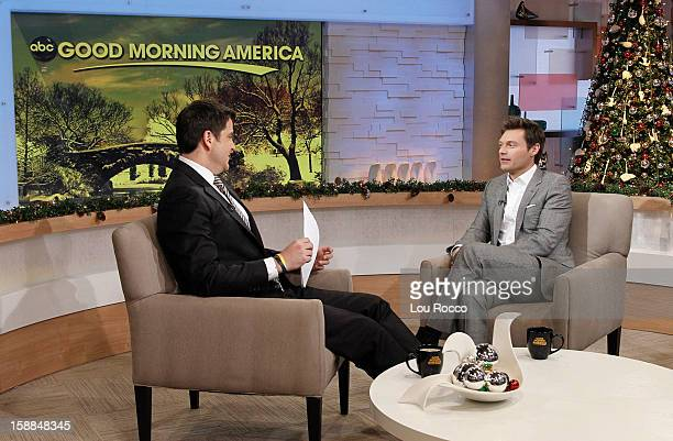 AMERICA Ryan Seacrest talks about 'New Year's Rockin' Eve' on 'Good Morning America' 12/28/12 airing on the ABC Television Network JOSH
