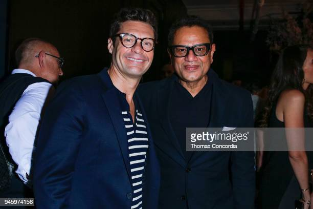 Ryan Seacrest with Naeem Kahn during the Naeem Kahn Spring/Summer Bridal 2019 Presentation on April 13 2018 in New York City