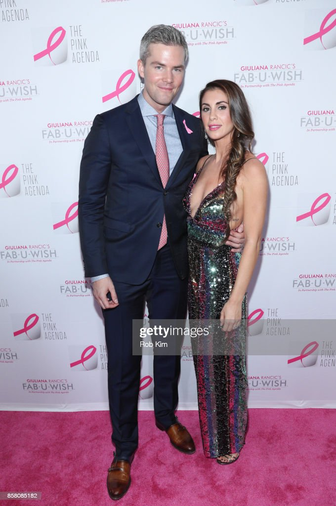 Ryan Serhant and Emilia Bechrakis Serhant attend The Pink Agenda 10th Annual Gala at Three Sixty Degrees on October 5, 2017 in New York City.