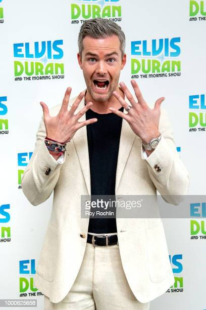 Elvis Duran with Ryan Serhant Danielle Monaro and Skeery Jones during 'The Elvis Duran Z100 Morning Show' at Z100 Studio on July 17 2018 in New York...