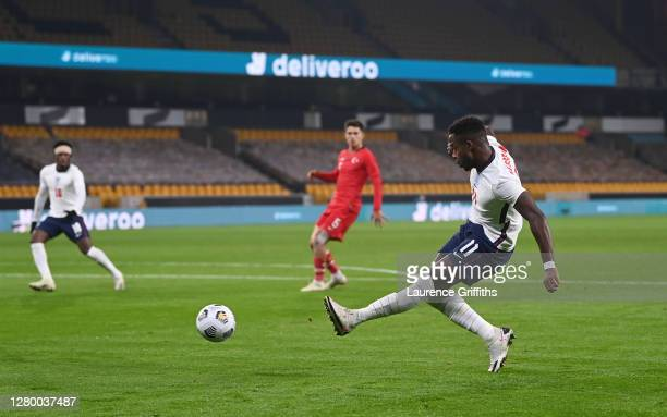 Ryan Sessegnon of England crosses leading to the own goal to make it 1-0 during the UEFA Euro Under 21 Qualifier match between England U21 and Turkey...