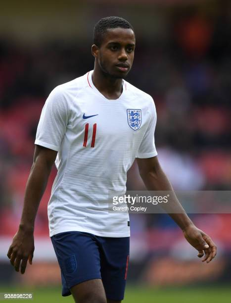 Ryan Sessegnon of England during the U21 European Championship Qualifier between England U21 and Ukraine U21 at Bramall Lane on March 27 2018 in...