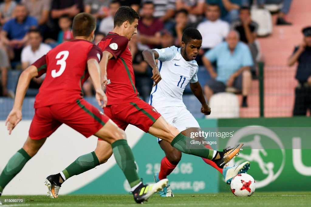 Ryan Sessegnon of England in action during the UEFA European Under-19 Championship Final between England and Portugal on July 15, 2017 in Gori, Georgia.