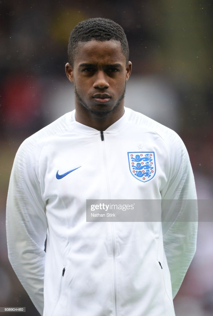 Ryan Sessegnon of England U21 looks on before the U21 European Championship Qualifier match between England U21 and Ukraine U21 at Bramell Lane on March 27, 2018 in Sheffield, England.