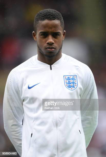 Ryan Sessegnon of England U21 looks on before the U21 European Championship Qualifier match between England U21 and Ukraine U21 at Bramell Lane on...