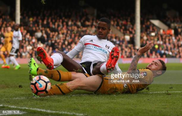 Ryan Sessegnon of Fulham and Kieran Trippier of Tottenham Hotspur during The Emirates FA Cup Fifth Round match between Fulham and Tottenham Hotspur...