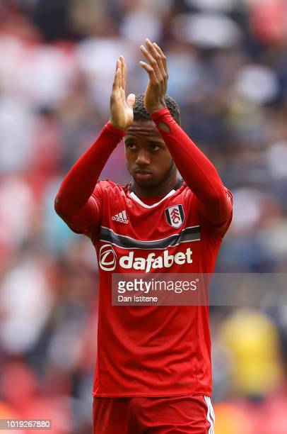 Ryan Sessegnon of Fulham applauds the fans after the Premier League match between Tottenham Hotspur and Fulham FC at Wembley Stadium on August 18...