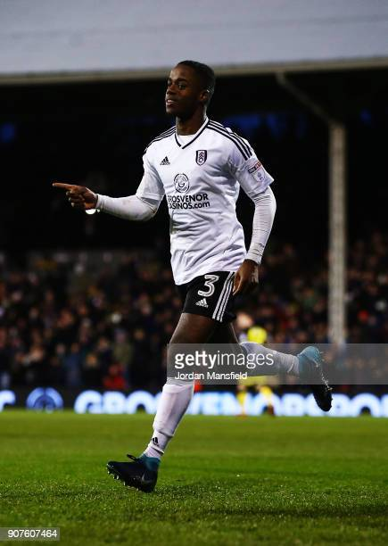 Ryan Sessegnon of Fulham celebrates scoring his sides fifth goal during the Sky Bet Championship match between Fulham and Burton Albion at Craven...